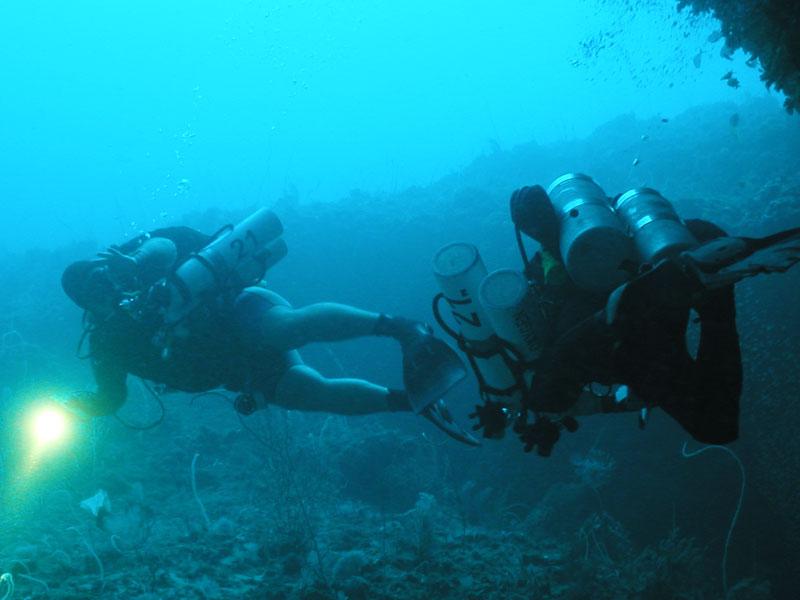 technical dive instructor training puerto galera
