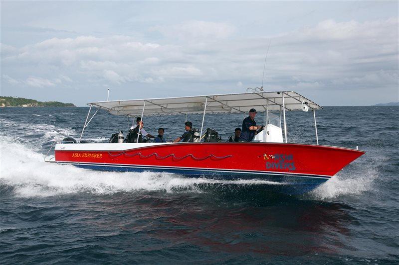 asia divers puerto galera philippines speedboat