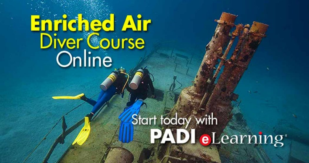 padi elearning eanx diver course puerto galera