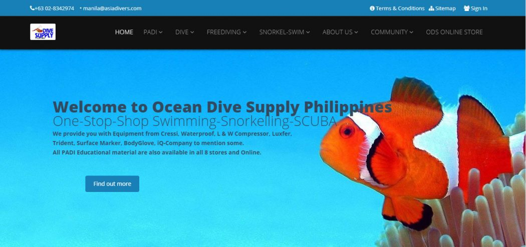 ocean dive supply philippines