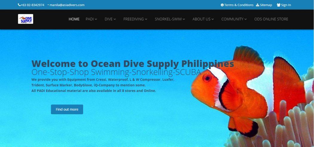 ocean dive supply philippines