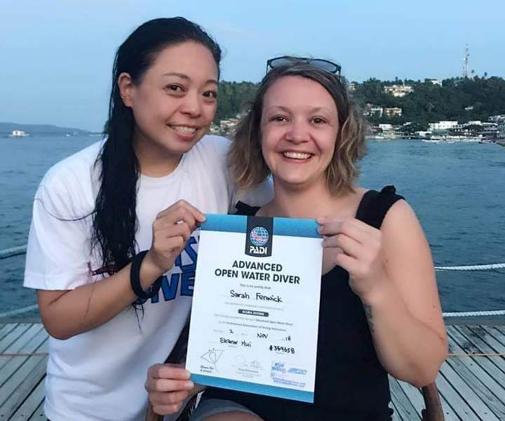 padi advanced open water course at asia divers