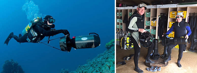 diver propulsion vehicle asia divers puerto galera