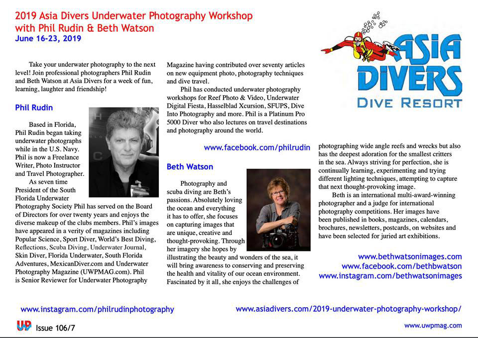 underwater photography workshop puerto galera asia divers