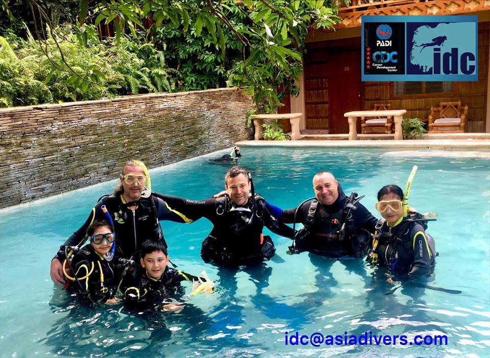 padi instructor course asia divers sabang philippines