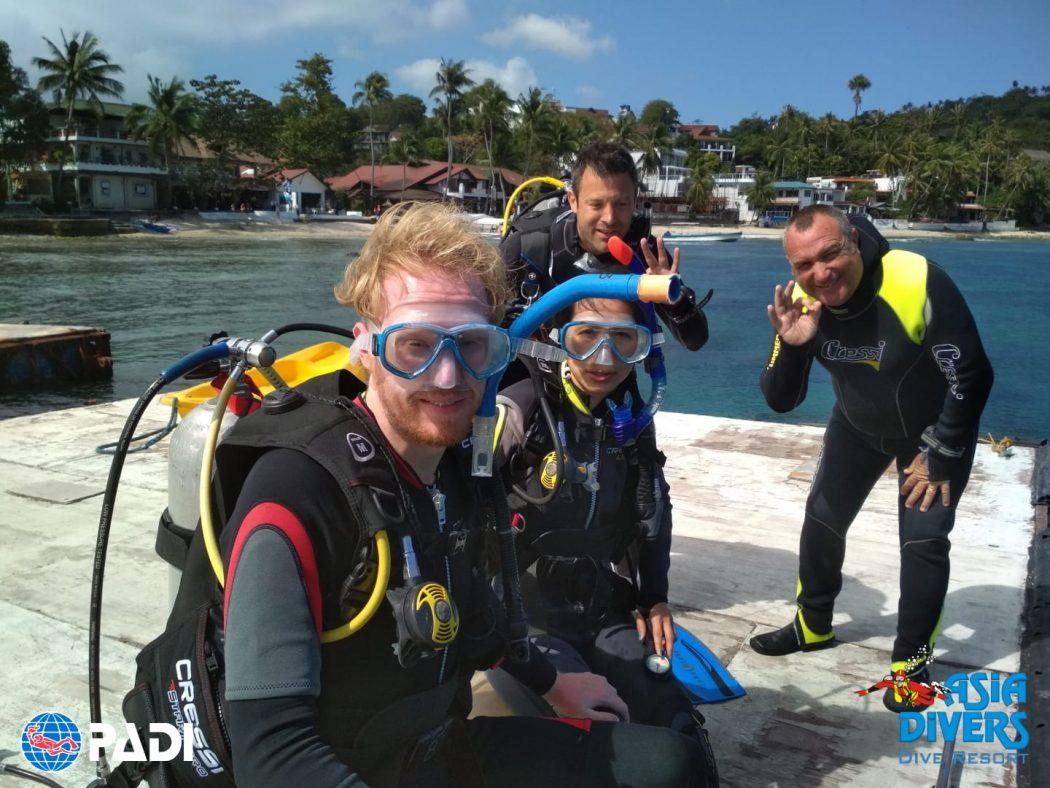 padi open water course puerto galera