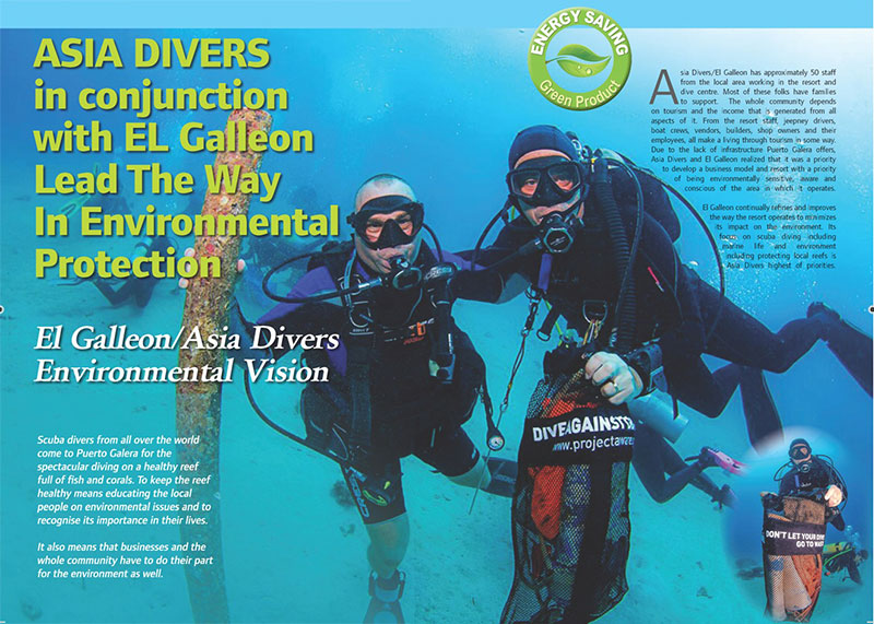 asia divers el galleon dive resort environmental protection puerto galera philippines