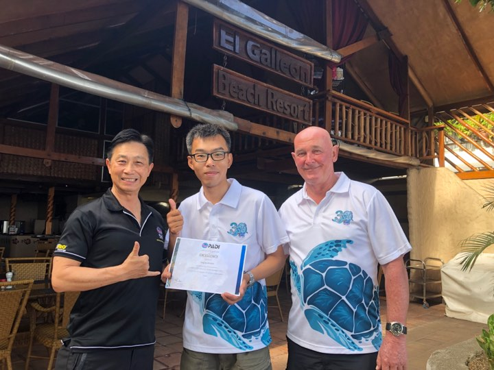 padi certificate of recognition for excellence asia divers puerto galera
