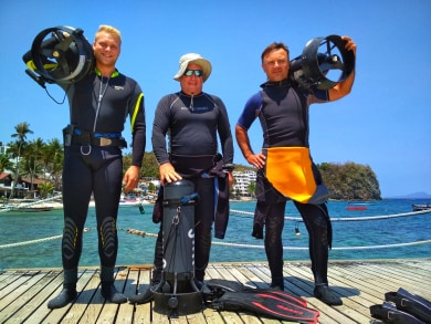 padi dpv course at asia divers in Puerto Galera