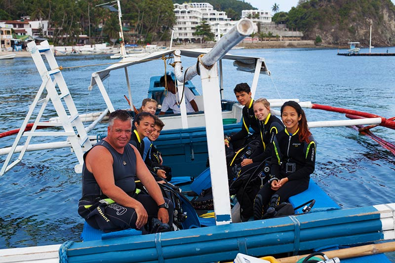 scuba trips for school students puerto galera philippines