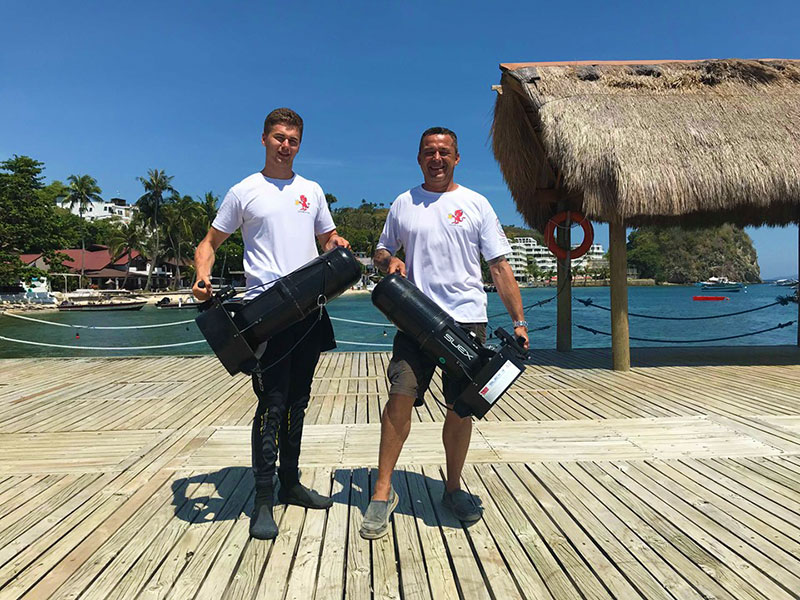 padi dpv course asia divers el galleon resort puerto galera