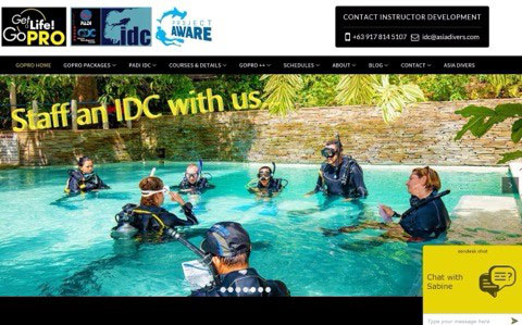 padi idc staff instructor experience asia divers puerto galera philippines