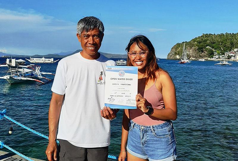padi open water diver course el galleon dive resort philippines