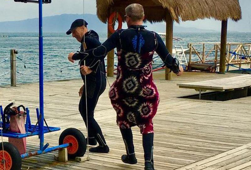 padi womens dive day el galleon dive resort puerto galera