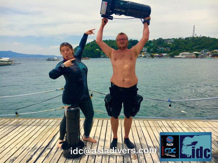 DPV Specialty Instructor Course el galleon dive resort puerto galera