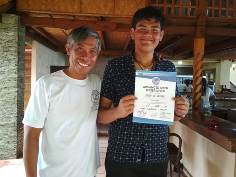 advanced open water diver course puerto galera philippines