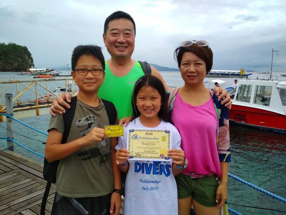 family scuba diving el galleon dive resort puerto galera