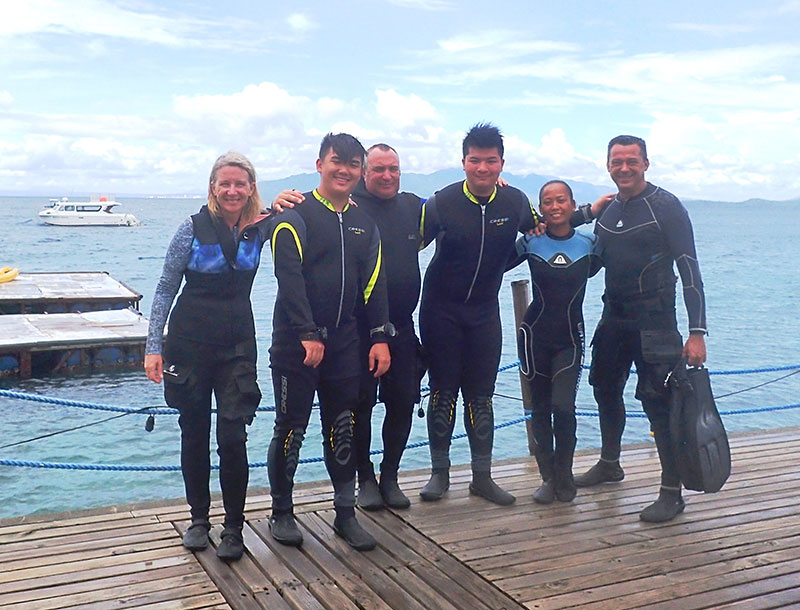 padi open water course el galleon dive resort puerto galera